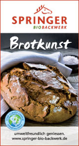 Brotkunst. Springer Bio-Backwerk