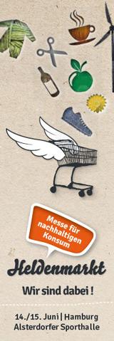 Heldenmarkt - Messe für nachhaltigen Konsum - Wir sind dabei!