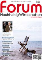 forum Nachhaltig Wirtschaften 01/2016. Hier bestellen!