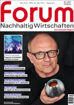 forum Nachhaltig Wirtschaften 01/2017. Hier bestellen!