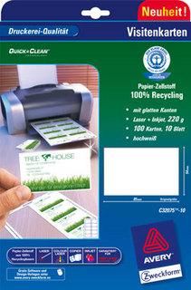 Umweltfreundliche Neuheit Erste Recycling Visitenkarten Zum